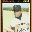 SAN FRANCISCO GIANTS TITO FUENTES 1971 TOPPS # 378 VG