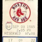 CLEVELAND INDIANS BOSTON RED SOX 1985 TICKET STUB WADE BOGGS 2 HITS JOE CARTER TONY ARMAS