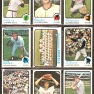 CALIFORNIA ANGELS 18 DIFF 1973 TOPPS VADA PINSON JEFF TORBORG TEAM CARD  BILL SINGER SANDY ALOMAR +