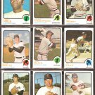 MINNESOTA TWINS 16 DIFF 1973 TOPPS TONY OLIVA KAAT HISLE  JIM PERRY DANNY THOMPSON GOLTZ DECKER +