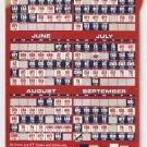 BOSTON RED SOX 2007 MAGNETIC SCHEDULE CHAMPIONSHIP SEASON NEWBURY COMICS
