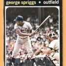 KANSAS CITY ROYALS GEORGE SPRIGGS 1971 TOPPS # 411 good