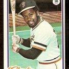 SAN FRANCISCO GIANTS BILL MADLOCK 1978 TOPPS # 410
