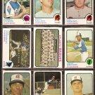 ATLANTA BRAVES 13 DIFF 1973 TOPPS NIEKRO DARRELL EVANS DENNY McLAIN DAVE JOHNSON TEAM CARD SCHUELER