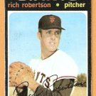 SAN FRANCISCO GIANTS RICH ROBERTSON 1971 TOPPS # 443