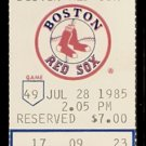 SEATTLE MARINERS BOSTON RED SOX 1985 TICKET DWIGHT EVANS & GORMAN THOMAS HR WADE BOGGS JIM PRESLEY