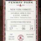NEW YORK YANKEES BOSTON RED SOX 2011 FULL TICKET ROBINSON CANO GRANDERSON MARTIN HR DEREK JETER AROD