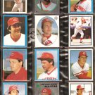 CINCINNATI REDS 23 DIFF TOPPS STICKERS JOHNNY BENCH TOM SEAVER CONCEPCION FOSTER CEDENO SOTO KNIGHT