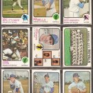 KANSAS CITY ROYALS 18 DIFF 1973 TOPPS LOU PINIELLA AMOS OTIS TEAM SPLITTORFF MAYBERRY McKEON SCHAAL