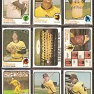 SAN DIEGO PADRES 14 DIFF 1973 TOPPS GASTON TEAM ZIMMER CALDWELL RC ROBERTS RC CORKINS MURRELL ROMO +