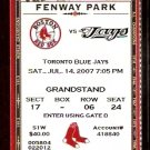 TORONTO BLUE JAYS 2 HR BOSTON RED SOX 3 HR 2007 TICKET CARL YAZ PHOTO DAVID ORTIZ VARITEK