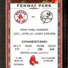 NEW YORK YANKEES BOSTON RED SOX 2007 TICKET DEREK JETER AROD ROBINSON CANO