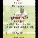 TEXAS RANGERS BOSTON RED SOX 1996 TICKET JOSE CANSECO MO VAUGHN