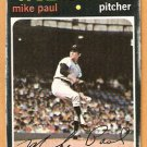 CLEVELAND INDIANS MIKE PAUL 1971 TOPPS # 454 good