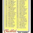 1978 TOPPS CHECKLIST 364-484 # 435 EX UNMARKED