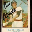 BOSTON RED SOX RICO PETROCELLI AUTOGRAPHED 1975 HOSTESS # 132