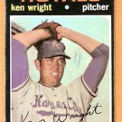 KANSAS CITY ROYALS KEN WRIGHT 1971 TOPPS # 504 good