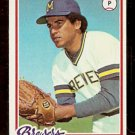 MILWAUKEE BREWERS BILL CASTRO 1978 TOPPS # 448 EX