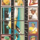 1982-83 OAKLAND ATHLETICS 23 DIFF TOPPS STICKERS RICKY HENDERSON ARMAS HEATH MURPHY KEOUGH NORRIS ++