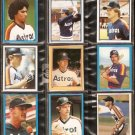 1981-1984 HOUSTON ASTROS 18 DIFF TOPPS STICKERS CESAR CEDENO GARNER HOWE NIEKRO CRUZ KNIGHT ASHBY