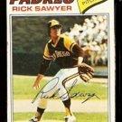 SAN DIEGO PADRES RICK SAWYER 1977 TOPPS # 268 VG/EX