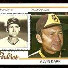 SAN DIEGO PADRES ALVIN DARK 1978 TOPPS # 467