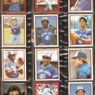 1982-83 TORONTO BLUE JAYS 12 DIFF TOPPS STICKERS DAVE STIEB MOSEBY BARFIELD UPSHAW GRIFFIN WHITT ++