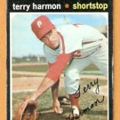 PHILADELPHIA PHILLIES TERRY HARMON 1971 TOPPS # 682 good