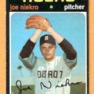 DETROIT TIGERS JOE NIEKRO 1971 TOPPS # 695 VG/EX