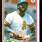 OAKLAND ATHLETICS JIM TYRONE 1978 TOPPS # 487 NM OC