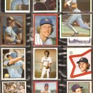 1981-83 MILWAUKEE BREWERS 31 DIFF TOPPS STICKERS ROBIN YOUNT PAUL MOLITOR TED SIMMONS COOPER OGLIVIE