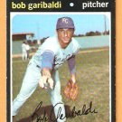 KANSAS CITY ROYALS BOB GARIBALDI 1971 TOPPS # 701 EX/EM