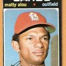ST LOUIS CARDINALS MATTY ALOU 1971 TOPPS # 720 good