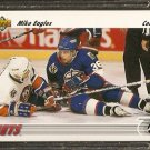 WINNIPEG JETS MIKE EAGLES 1991 UPPER DECK # 523