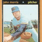 MILWAUKEE BREWERS JOHN MORRIS 1971 TOPPS # 721 fair/good