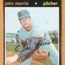MILWAUKEE BREWERS JOHN MORRIS 1971 TOPPS # 721 fair/good