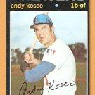 MILWAUKEE BREWERS ANDY KOSKO 1971 TOPPS # 746 EX