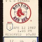 TORONTO BLUE JAYS BOSTON RED SOX 1987 TICKET DON BAYLOR 2 HR WADE BOGGS