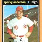 CINCINNATI REDS SPARKY ANDERSON 1971 TOPPS SHORT PRINT # 688 EX/EM