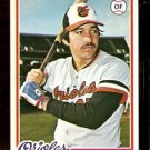 BALTIMORE ORIOLES ANDRES MORA 1978 TOPPS # 517 NM