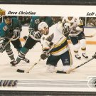 ST LOUIS BLUES DAVE CHRISTIAN 1991 UPPER DECK # 541