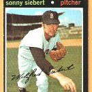 BOSTON RED SOX SONNY SIEBERT 1971 TOPPS # 710 NM