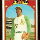 OAKLAND ATHLETICS TOMMY DAVIS 1972 TOPPS # 41 EX