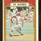 PHILADELPHIA PHILLIES RICK WISE IN ACTION 1972 TOPPS # 44 VG+/EX