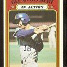CHICAGO CUBS GLENN BECKERT IN ACTION 1972 TOPPS # 46 VG/EX