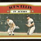 NEW YORK YANKEES JOHN ELLIS IN ACTION W/ MINNESOTA TWINS HARMON KILLEBREW 1972 TOPPS # 48 EX/EM