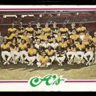 OAKLAND ATHLETICS TEAM CARD 1978 TOPPS # 577 good marked cl
