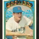 MILWAUKEE BREWERS RON THEOBALD 1972 TOPPS # 77 EX