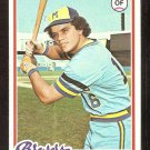MILWAUKEE BREWERS SIXTO LEZCANO 1978 TOPPS # 595 VG