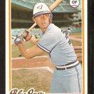 TORONTO BLUE JAYS GARY WOODS 1978 TOPPS # 599 EX